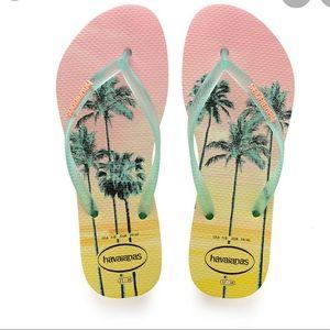 Havaianas Sunset palm tree yellow  37-38 7-8